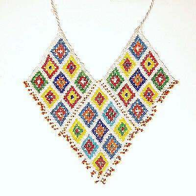 Belly Dance ATS tribal Beaded NECKLACE Afghani Kuchi 806c1