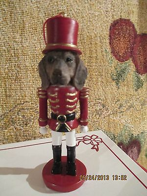 Weimaraner ~ Nutcracker Dog Soldier Ornament #54