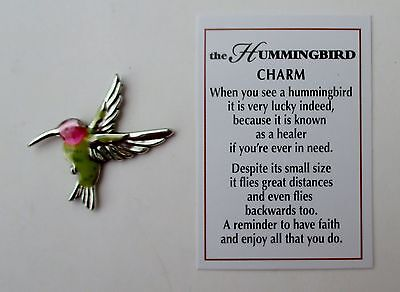 i Hummingbird POCKET TOKEN CHARM lucky healer faith reminder Ganz mini figurine