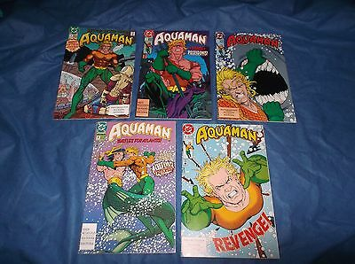 "1991/92 DC Comics ""Aquaman"" Comic Books Issues #1-5"