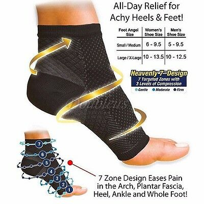 Pair Varicose Compression Socks Foot Angel Ankle Sleeve Anti Fatigue heel Sock