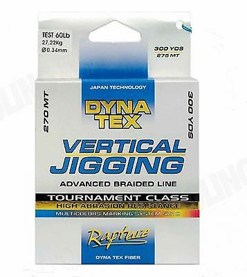 Lenza Multifibra Rapture DynaTex Vertical Jigging Multicolor Pesca Traina 3 PP