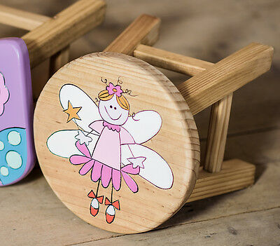 Wooden Fairy Stool Pink Children's Furniture New In Box