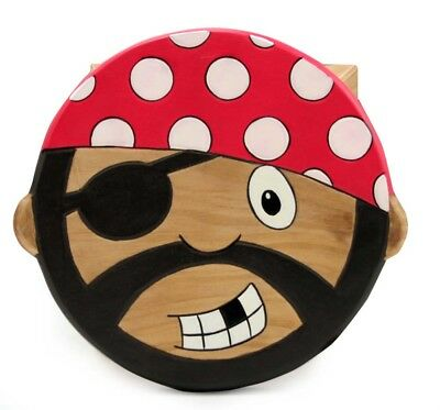 Wooden Pirate Stool Children's Furniture New In Box
