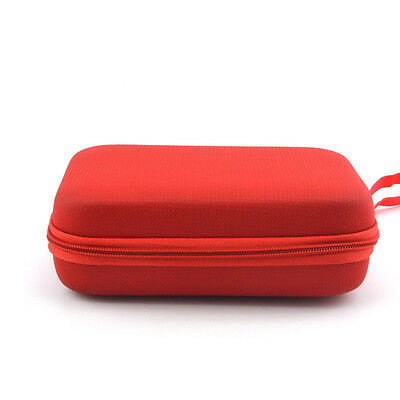 Universal 5 Inch Red Case with Strap Holder and Lanyard for Tomtom Start 50