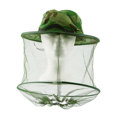 Insect Bee Mosquito Resistance Bug Net Mesh Head Face Protector Cap Sun Hat GO