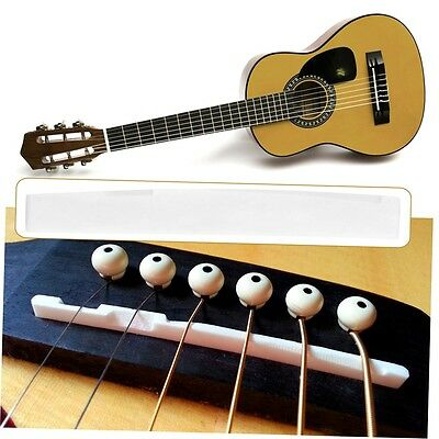 Buffalo Bone Bridge Saddle Replacement Parts For 6 String Acoustic Guitar GO