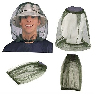 Midge Mosquito Insect Hat Bug Mesh Head Net Face Protector Travel Camping GO