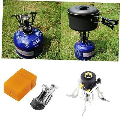Folding Mini Camping Survival Cooking Furnace Stove Gas Burner Outdoor GO