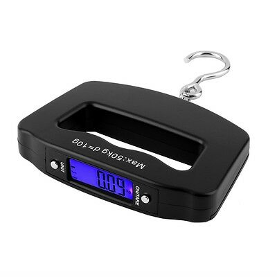 Pocket 50kg/10g LCD Digital Fishing Hanging Electronic Scale Hook Luggage GO