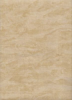 Zweigart 32 count Belfast Linen Cross Stitch Fabric Fat Quarter Vintage Beige