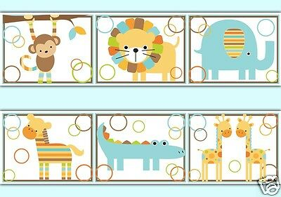 Jungle Wallpaper Border Wall Decals Baby Boy Safari Animal Nursery Art Stickers