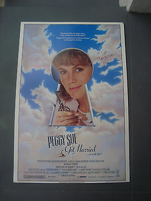 Peggy Sue Got Married 1 sheet Poster Signed Kathleen Turner