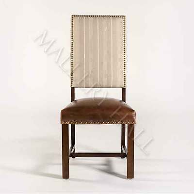 Solid Hardwood Leather Linen Fabric Side Dining Chair CHOOSE QTY 4 6 or 8---