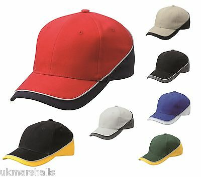 MB Turbo Piping Cap Teamwear Baseball Cap in 7 Colours Sports Hat (MB6506)