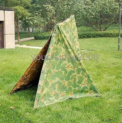 Vietnam War US Military Army Outdoor Tactical Camouflage Half Shelter Tent-36271