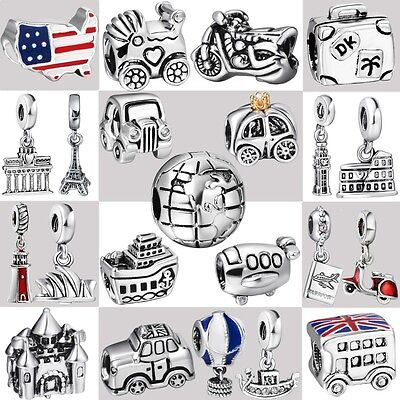 2017 Genuine 925 Sterling Silver Fine European Charms For Fashion Bead Bracelet
