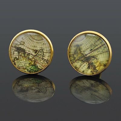 1 pair gift Celebrate New Cufflinks Gold plated Old Cuff links for men