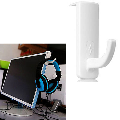 Headset Headphone Hanger Holder Wall PC Monitor Stand for Universal Headphones
