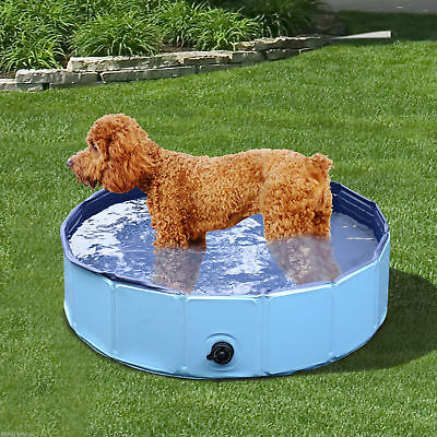 PawHut Folding Splash About Dog Pool Portable Pet Swimming Pool Indoor Outdoor