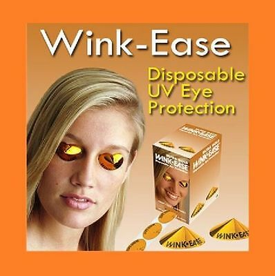 Wink-Ease Disposable Eye Protection SunBed /Solarium Tanning Goggles -Multiples