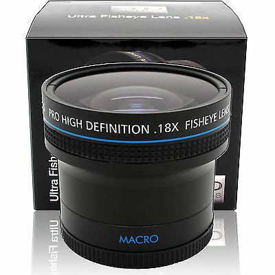 0.18x Ultra Wide Angle Fisheye Lens for Canon EF 50mm f/1.8 & 24mm f/2.8 SLR Cam