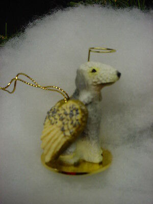 BEDLINGTON TERRIER puppy DOG ANGEL ORNAMENT Pet Figurine Statue NEW Christmas K9