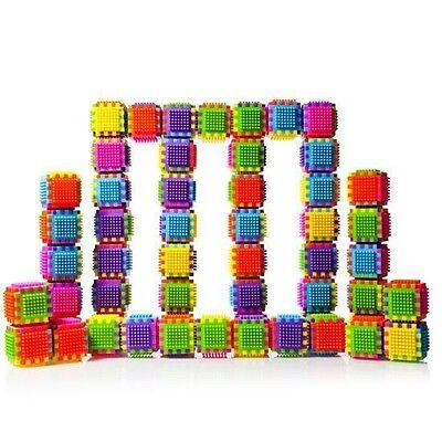 Dimple Stacking Bristle and Interconnecting Building Blocks 60 Piece Set DC5190