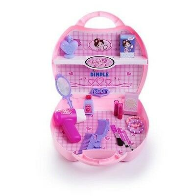 Dimple On-The-Go 22 Pcs Toy Beauty Set w/ Hair-Dryer  Makeup  Case & More