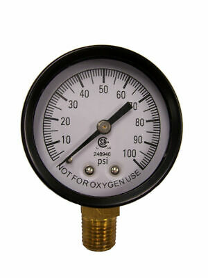 "Simmons 1305 100 PSI 1/4"" Well Pump Water Pressure Gauge"