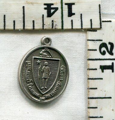 Vintage Sterling Bracelet Charm~Massachusetts State Seal~#3~$16.00!!!