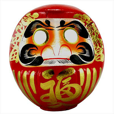 "Japanese 19.5""H  Red Daruma Doll Wish-Making Success /Made in Japan"
