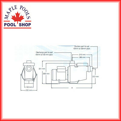 New Hurlcon Replacement 1.0Hp Pool Pump