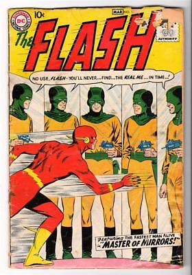 DC Comics GVG FLASH  #105 low GRADE JLA  batman  1st flash silver age 1959 3.0