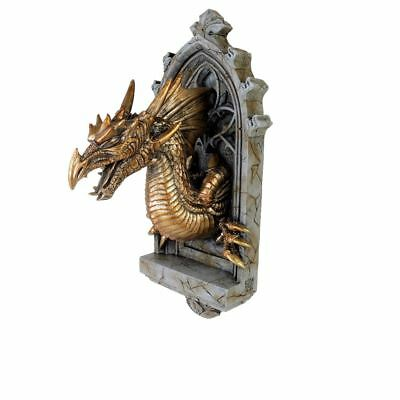 Alchemy Gothic 'The Vault' The Laidly Relic Dragon Wall Sconce