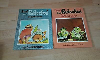 Lot Les Bidochon N° 1  2 + Album Double Reprend Tome 9 Et 10