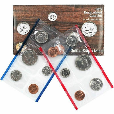 1985 P and D United States Mint Uncirculated Coin Set