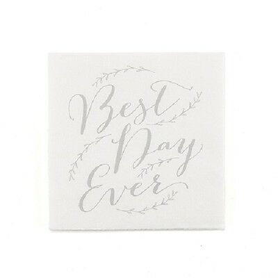 50 Non-Personalized Best Day Ever Wedding Cocktail Napkins