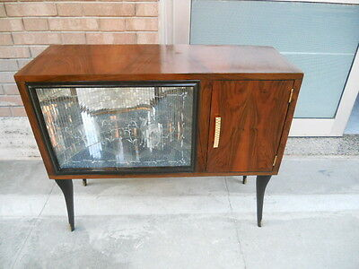 Little Italian Art Deco Walnut  Cabinet Cocktail Bar  From 1930 Gio Ponti Style