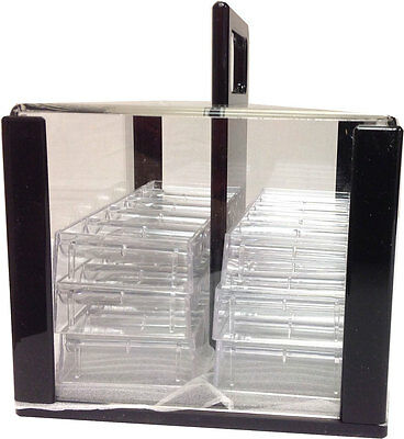 Caddy 600 Poker Chips Carrier Caddy WITH 6 Chip Racks Holds 600 Chips Storage *