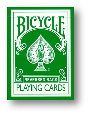 Reversed Rider Back Green - Bicycle by Magic Makers Poker Spielkarten