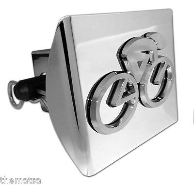 Cycling Logo Chrome Plated Shiny On Plastic Decal Usa Made Trailer Hitch Cover