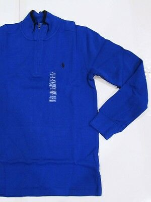 New with tag NWT Boys Ralph Lauren Polo Blue French-Ribbed HZ Winter Sweater L