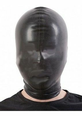 Black Latex Rubber Hood/Mask OPEN NOSE / 109n