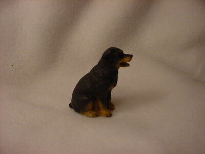 ROTTWEILER puppy TiNY Dog FIGURINE Resin HAND PAINTED MINIATURE Mini Statue NEW