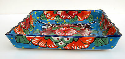 """Mexican Pottery Square Serving Dish 10 1/2"""""""