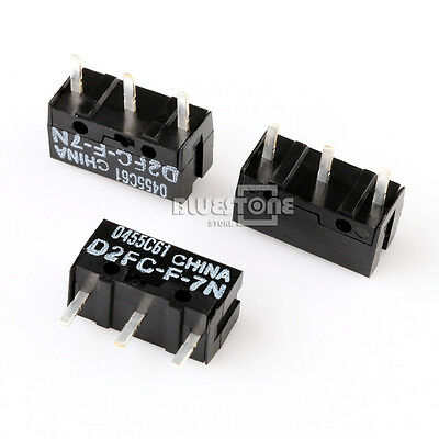 20 x Fzeroinestore D2FC-F-7N(10M) Micro Switch Microswitch For MS Mouse Black