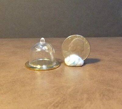 Dollhouse Miniature Gold Round Tray w Dome 1:12 inch scale F16 Dollys Gallery