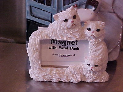 Persian Cat ~ Magnet Picture Frame With Easel Back ~ #3