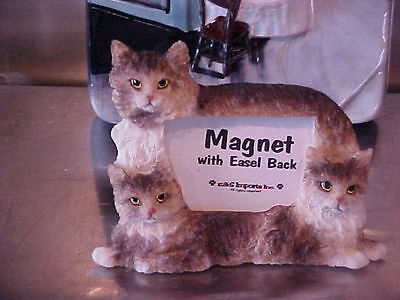 Maine Coon Cat~ Magnet Picture Frame With Easel Back ~ #5